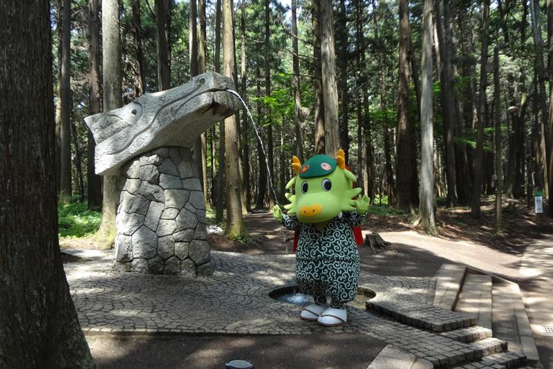 森林公園龍のモニュメント